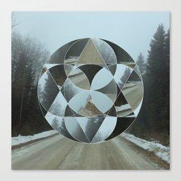 Geometric Road Canvas Print
