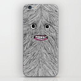 Hairy Guy BW iPhone Skin