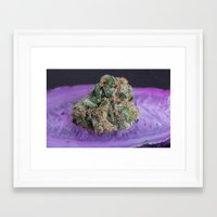 medical Framed Art Prints featuring Jenny's Kush Medical Marijuana by BudProducts.us