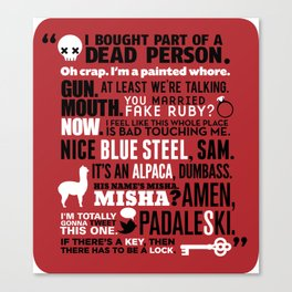 Supernatural - The French Mistake Quotes Canvas Print