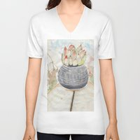 succulent V-neck T-shirts featuring Succulent by Kim Ly