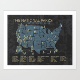 The National Parks: Adventurer's Guide Art Print