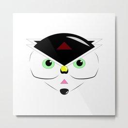 Mystery Cat Metal Print