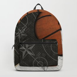 Basketball Stars and Court Team Sports Design Backpack