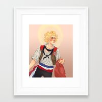 enjolras Framed Art Prints featuring Enjolras by icarusdrunk