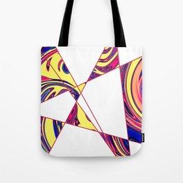 Contemporary Geometric Sunny Stone Marble Tote Bag