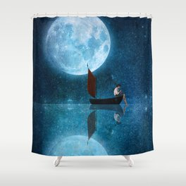 The Moon and Me Shower Curtain