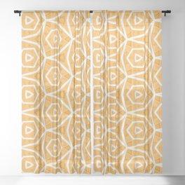 Tainn geometric mute orange pattern Sheer Curtain