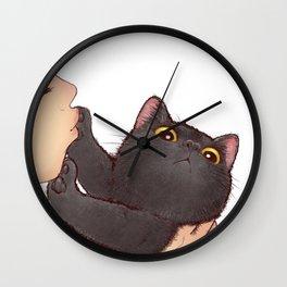 cat : huuh Wall Clock