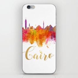 Cairo Skyline Egypt Watercolor cityscape iPhone Skin