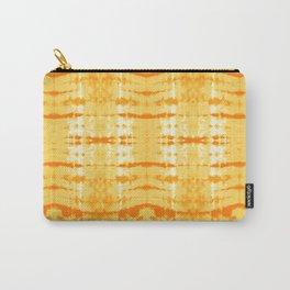 Satin Shibori Yellow Carry-All Pouch