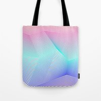 miami Tote Bags featuring Miami by Three of the Possessed
