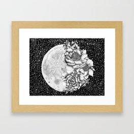 Moon Abloom Framed Art Print