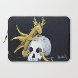 Gold Dragon & Skull Laptop Sleeve