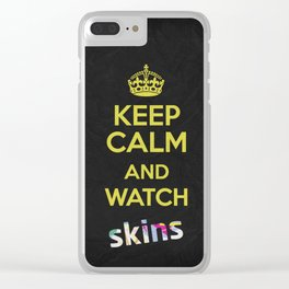 Keep Calm - Watch Skins Clear iPhone Case
