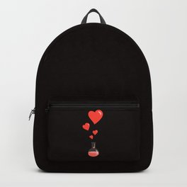 Love Chemistry Flask of Hearts Backpack