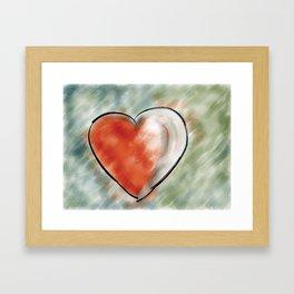 Heart throb Framed Art Print