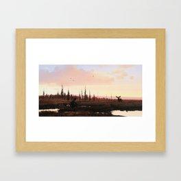 The Moose Hunter Framed Art Print