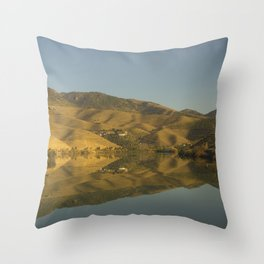 Douro valley Reflections Throw Pillow
