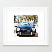 porsche Framed Art Prints featuring Porsche by Monika Siauw