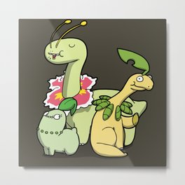 Pokémon - Number 152, 153 & 154 Metal Print