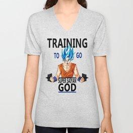 Training to go Super Saiyan God Unisex V-Neck