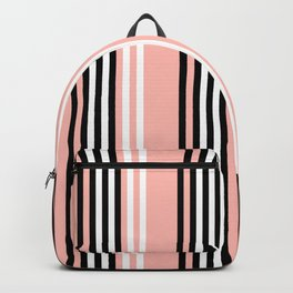 Geometric Design 8 to compliment Horizons Geometric Design 5 - Peach Pink Backpack