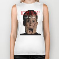 home alone Biker Tanks featuring Home Alone by Darius Malone