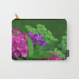 Vibrant and Colorful Pink Magenta and Purple Hydrangea Hortensia Flower Carry-All Pouch