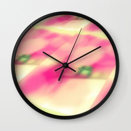 Cotton Candy Landscape Wall Clock