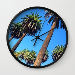 Peaceful Palms Wall Clock
