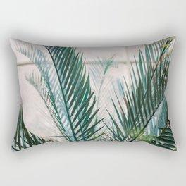 Botanical Garden | Fine art photography print | Shades of green and blue Rectangular Pillow