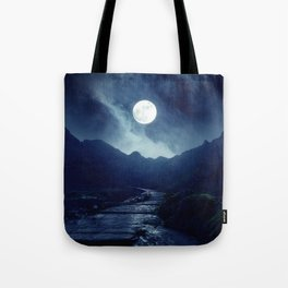 Walk to the Moon Tote Bag
