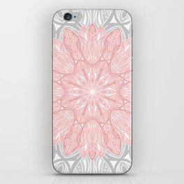 MANDALA IN GREY AND PINK iPhone Skin