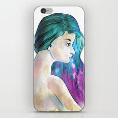 Watercolor Sea Portrait iPhone & iPod Skin