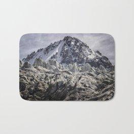 Glaciated Mountain Bath Mat