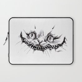 Cheshire Smile Inktober Drawing Laptop Sleeve
