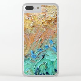 Wheat Field with Cypresses Brush Detail by Vincent van Gogh Clear iPhone Case