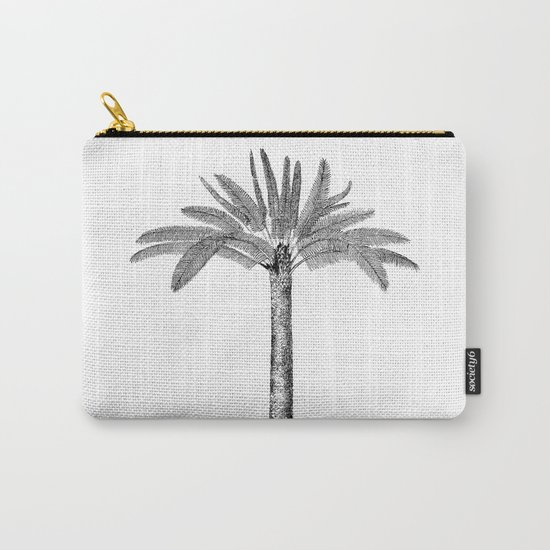 Vintage Palm Tree black and white Carry-All Pouch