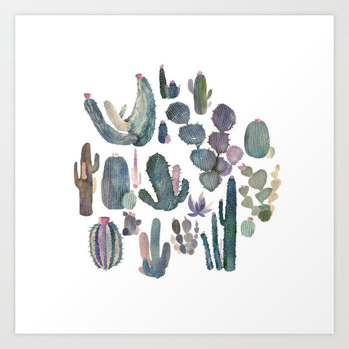 cactus fat Art Print