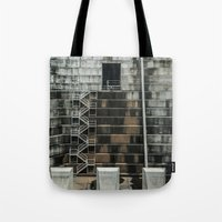 industrial Tote Bags featuring Industrial  by Novella Photography