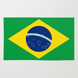 Brazilian National flag Authentic version (color & scale) Rug