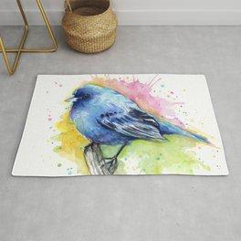 Blue Bird Indigo Bunting Colorful Animals Rug