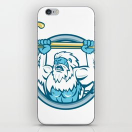 Yeti Lifting J Hook Circle Retro iPhone Skin