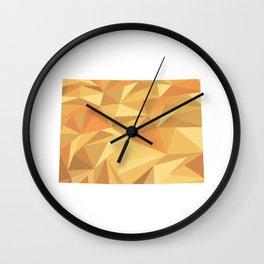 Colorado Pattern Map Art Wall Clock