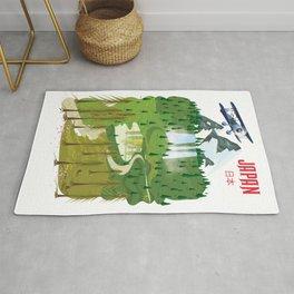 Japan travel poster Rug