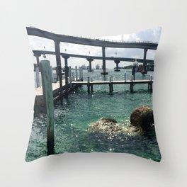 Dockin' at Sea Throw Pillow