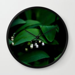 Lily Of the Valley With Large Green Leaves Wall Clock