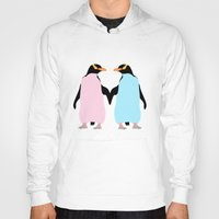 penguins Hoodies featuring Penguins by mailboxdisco