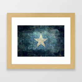Somalian national flag - Vintage version Framed Art Print